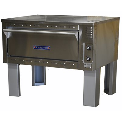 """ZESTO 903SS DECK PIZZA / BAKE OVEN ELECT 48""""LX 36"""" SPACE SAVER"""