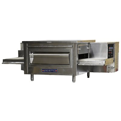 "ZESTO CG3018 CONVEYOR PIZZA / BAKE OVEN GAS (58""L X 36""D)"