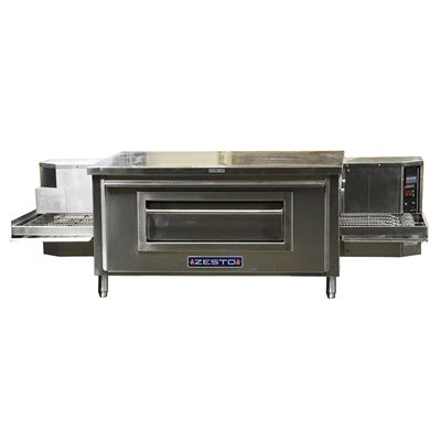 "ZESTO CG4018 CONVEYOR PIZZA / BAKE OVEN GAS (68""L X 36""D)"