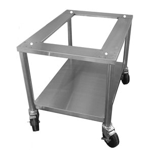 """STAND 24""""H STAINL. STEEL W / LOCKING CASTERS(CG4018)"""